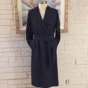 Burberry Vintage Long Nova Plaid Check Trench Coat